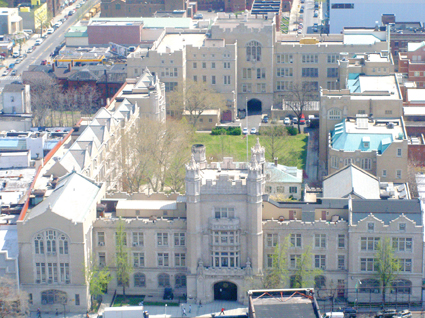 The newly renovated Erasmus Hall High School won a Building Brooklyn Award from the Brooklyn Chamber of Commerce last summer.
