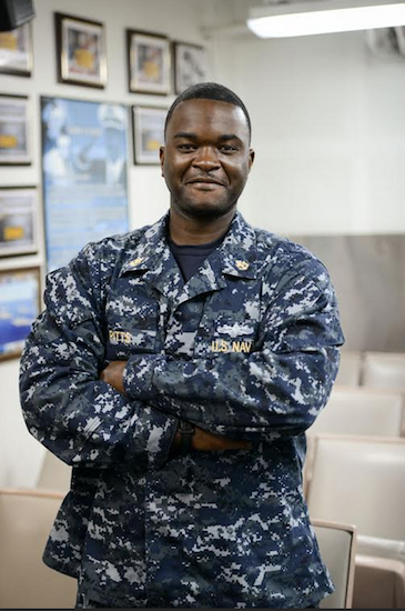 Chief Petty Officer Derrick Pitts, a Brooklyn native, of the U.S. Navy