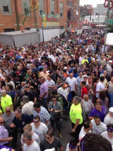 Crowd gathers at Giglio feast, Williamsburg