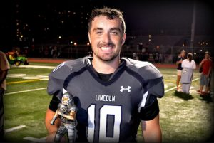 Everyone knew about Paul Litvak's arm going into Lincoln's first game of the year, but he shocked everyone by running for more than 50 yards and two touchdowns in a big 28-6 victory over Tottenville in a PSAL championship game rematch.