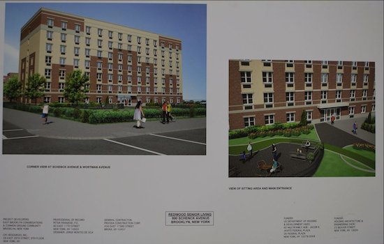 An architectural rendering of Redwood Senior Living, scheduled to open in January 2015. Photo credit: Ken Cott