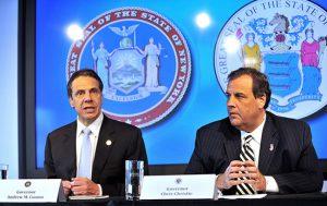 Cuomo and Christie announce mandatory Ebola quarantines. Photo courtesy Office of Gov. Cuomo