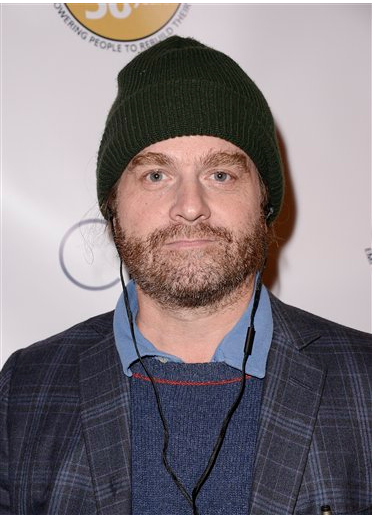 Actor and comedian Zach Galifanakis attends the OPCC 50th Anniversary Celebration at The Broad Stage on Saturday. It's his birthday today.