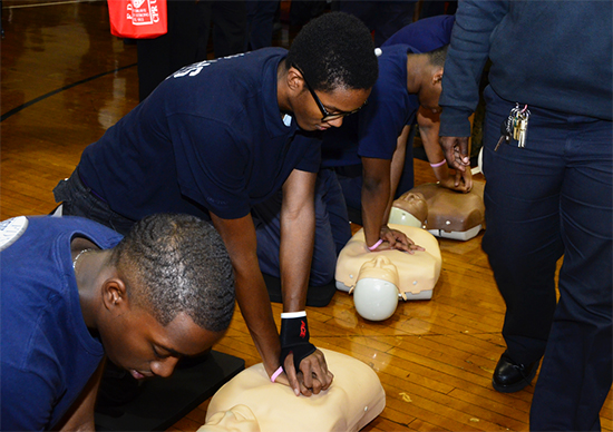 The FDNY Foundation is training 5,000 city teens how to use a new, compressions-only CPR technique. Photo courtesy of FDNY