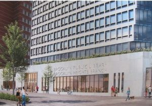 A rendering of the new Brooklyn Heights library by the developer Hudson Co. Photo courtesy of the Brooklyn Public Library