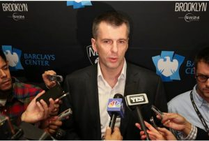 Reports say that Mikhail Prokhorov is looking to sell the Brooklyn Nets. AP Photo/John Minchillo, File