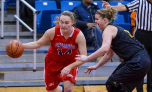 Senior Sarah Benedetti and the SFC Brooklyn Terriers are heating up just in time to make a run at the NEC Tournament title next month. Photo courtesy of SFC Brooklyn Athletics