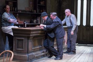 """From left: Salvatore Inzerillo, James Harms, Nathan Lane and Brian Dennehy appear in """"The Iceman Cometh"""" at the BAM Harvey Theater. AP Photo/Brooklyn Academy of Music, Richard Termine"""