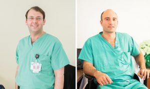 New York Methodist Hospital attending pediatric surgeons Shaun Steigman, M.D., (left) and Demetri Merianos, M.D. Photo courtesy of New York Methodist Hospital