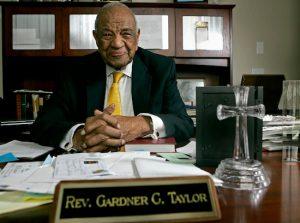 Rev. Dr. Gardner Taylor. AP Photo/Gerry Broome, File