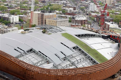 One of America's largest green roofs will sit atop the Barclays Center. AP Photo/Seth Wenig