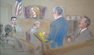 Court sketch by Alba Acevedo