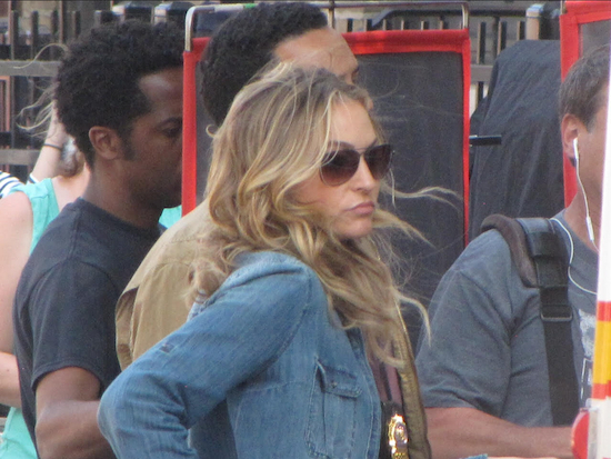"That's Drea de Matteo in ""Shades of Blue,"" a new NBC TV series. Photo by Tony Ciccotto"