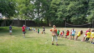 Students enjoyed a game of tug-of-war during the Field Day on the grounds of the school. Photo by John Abi-Habib