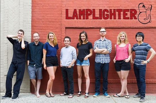 """Lamplighter Productions, a collection of eight young artists — four of whom are from Brooklyn — will present their production """"How to Be a GoodPerson""""  from July 22-25. The show is a collaboration by Michael Sypa, Paul Weintrob, Vanessa Frank, Jordan Sucher, Sasha Atlas, Charlie Oniszczuk, Jill Bellovin and Mida Chu (l. to r.).  Photo courtesy of Lamplighter Productions"""