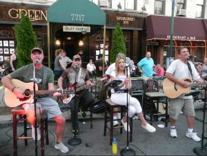 Third Avenue was lined with outdoor cafes that stretched into the street during Summer Stroll on 3rd on Friday night, including this one outside Blue Agave restaurant. Eagle photos by Paula Katinas
