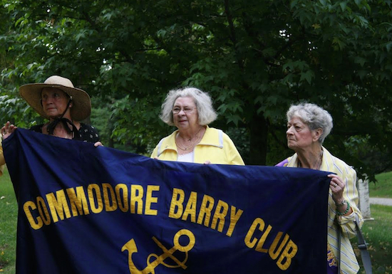 Vice President Mary Lennon, Treasurer Maureen Donohue and President Mary Nolan of the Commodore Barry Club. Photos courtesy of Commodore Barry Club