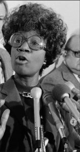 Brooklyn native and Brooklyn College alum Shirley Chisholm, the first African-American woman elected to Congress, is pictured in 1979. Chilsholm is being posthumously awarded the Presidential Medal of Freedom by President Barack Obama. AP Photo/Charles Harrity