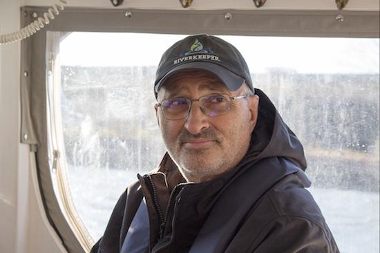 Riverkeeper patrol boat Capt. John Lipscomb. Eagle photos by Cody Brooks