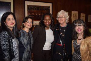 From left: Sara J. Gozo, Helene Blank, Hon. Sylvia Hinds-Radix, Hon. Sarah L. Krauss and Holly Peck. Eagle photos by Rob Abruzzese
