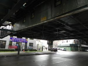 The clearance beneath the subway el is as low as 12 and a half feet in some spots. Eagle photo by Paula Katinas