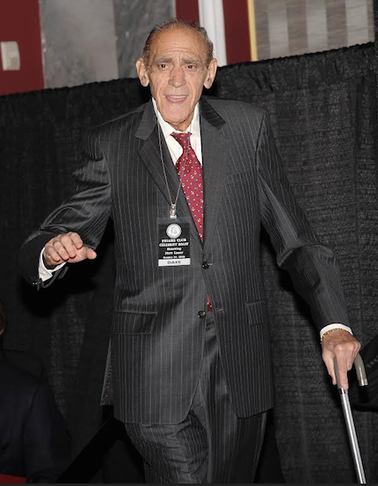 "In this 2008 photo, famed actor Abe Vigoda attends the Friars Club Roast of ""Today Show"" host Matt Lauer in New York. Vigoda, whose leathery, sunken-eyed face made him ideal for playing the over-the-hill detective Phil Fish in the 1970s TV series ""Barney Miller"" and the doomed Mafia soldier in ""The Godfather,"" died in his sleep Tuesday, Jan. 26, at his daughter's home in Woodland Park, N.J. He was 94. AP Photo/Evan Agostini, File"