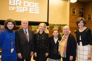 """The family of the lawyer played by Tom Hanks in the recent film """"Bridge of Spies"""" took part in a panel discussion prior to a screening of the film. Pictured from left: Hon. Reena Raggi, John Donovan, Beth Amorosi, Jan Amorosi, Mary Ellen Fuller and Chief Judge Carol Bagley Amon. Eagle photos by Rob Abruzzese"""