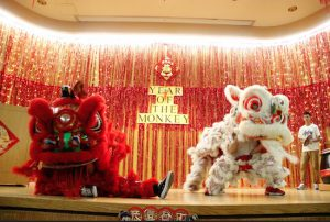 Students celebrate Lunar New Year with a special Lion Dance performance at Maimonides Medical Center. Photos courtesy of Maimonides Medical Center