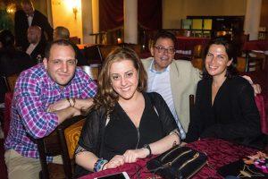 From left: Daniel R. Antonelli, Andrea M. Arrigo, Msgr. Jamie Gigantiello and Leah Mallas enjoying a show at Hotel Nacional de Cuba.