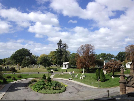 Here's a hillside view of famed Green-Wood Cemetery. Eagle photo by Lore Croghan