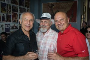 Happy birthday, Judge Michael Pesce! Pictured from left: Pesce, Louis Aidala and Arthur Aidala. Eagle photos by Rob Abruzzese