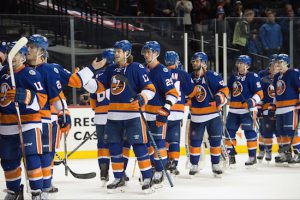 The New York Islanders hope to hoist their sticks through three more rounds of playoffs as they continue pursuit of the team's first Stanley Cup title since 1983. AP photo