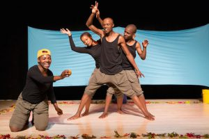 "Magnet Theatre's ""TREE/BOOM/UMTHI"" is running at BAM through May 22. Photos by Rebecca Greenfield."