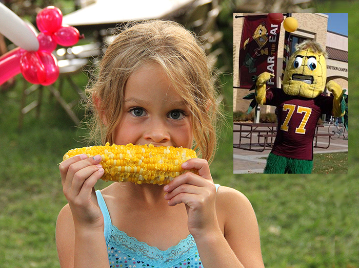 """Alumni of Concordia College— motto: """"Fear the Ear!"""" — are putting together a Cobber Corn Feed in Brooklyn Bridge Park this Sunday. Photo courtesy of Concordia College"""