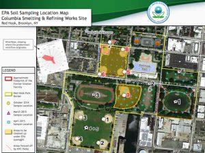Environmental Protection Agency Soil Sampling Location Map. Photo courtesy of U.S. EPA 8-2-16