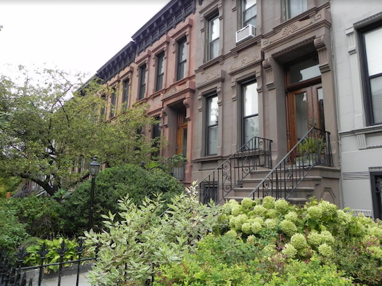 Community Board Six boasts neighborhoods with beautiful old homes, like the ones on this block in Park Slope. Eagle photos by Paula Katinas