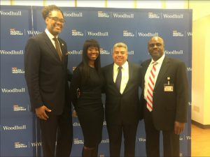 Councilmember Robert Cornegy Jr. (left) says the campaign will give residents the chance to get life-saving cancer screenings. He is pictured with Lu-Shawn Thompson, Eric Gonzalez and Gregory Calliste (left to right). Photo courtesy of Cornegy's office