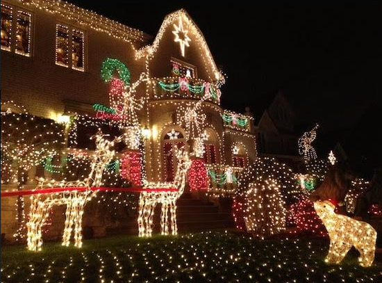 The popularity of the Dyker Heights Christmas lights has grown to the point where neighborhood streets are clogged with traffic, local officials said. Eagle file photo by Lore Croghan
