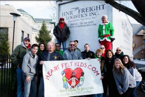 The Heartfelt Foundation donated a truck load of toys to the HeartShare Annual Toy and Gift Drive on Dec. 10. The foundation is led by Danny and Fran Maniscalco. Photo courtesy of HeartShare Human Services of New York