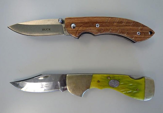 "After seven years of efforts by legislators and legal advocates, Gov. Andrew Cuomo on Thursday signed a bill decriminalizing so-called ""gravity knives"" in New York. Eagle photo by Mary Frost"