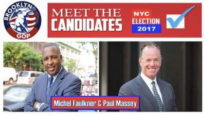 Rev. Michel Faulkner (left) and Paul Massey are both hoping for the Republican Party's endorsement to run for mayor. Photo courtesy of the Brooklyn Republican Party