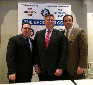 From left: City Council candidates Bob Capano, Liam McCabe and John Quaglione at the first GOP City Council debate. Photo by Amanda Alexander