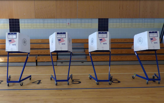 New York is taking action to assess the threats to the cyber security of New York's elections, Gov. Andrew Cuomo said. Shown: Voting stations in Downtown Brooklyn awaiting voters during the 2016 primary election. Eagle photo by Mary Frost