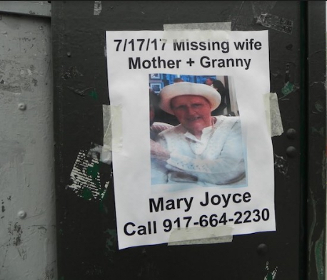Mary Joyce Bonsignore's friends and family pasted posters all over Southwest Brooklyn in the hopes of finding her. Eagle file photo by Paula Katinas
