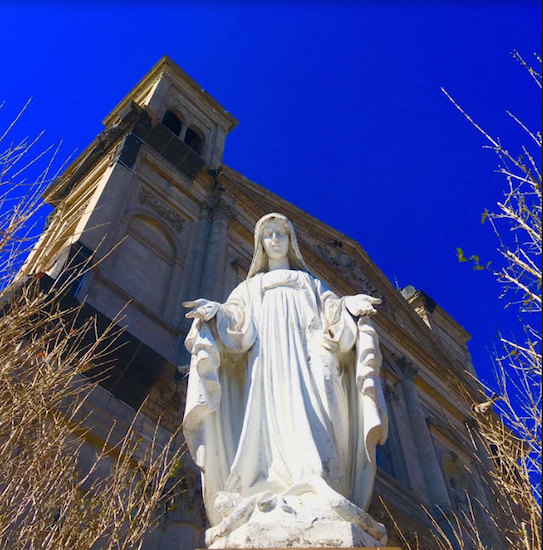 Gone but not forgotten: This statue from Our Lady of Loreto Church is now in storage. Eagle file photo by Lore Croghan