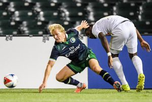 The Cosmos fell 2-0 to North Carolina FC on Saturday at MCU Park in Coney Island. Despite not winning a match in nine games, New York is still in control of its playoff destiny. Photos courtesy of the New York Cosmos
