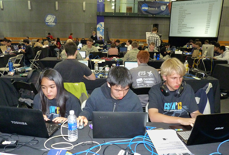 White-hat hackers participated in a past Cyber Security Awareness Week at NYU Tandon in Downtown Brooklyn, when the institution was named NYU Poly.  Eagle photo by Mary Frost