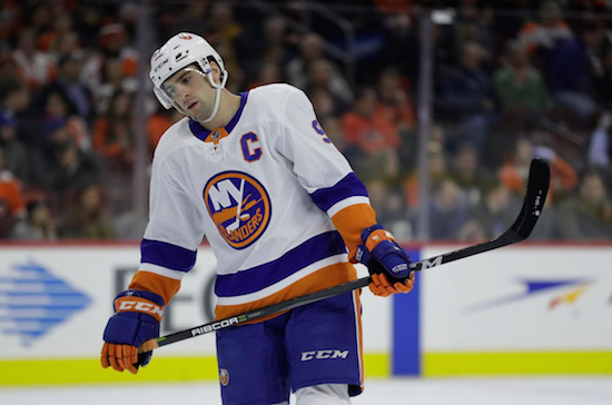 Team captain John Tavares and the rest of the Islanders are sagging when they should be striving toward an Eastern Conference playoff spot. AP Photo by Matt Slocum