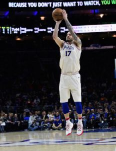 J.J. Redick owns a residence in Brooklyn, but he decided to play for Philadelphia this past summer, a move that has paid great dividends as the red-hot Sixers won their 11th in a row Tuesday night against the listless Nets. AP Photo by Chris Szagola