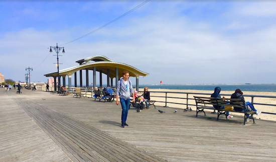 Welcome to the Boardwalk in Little Odessa, aka Brighton Beach. Eagle photos by Lore Croghan